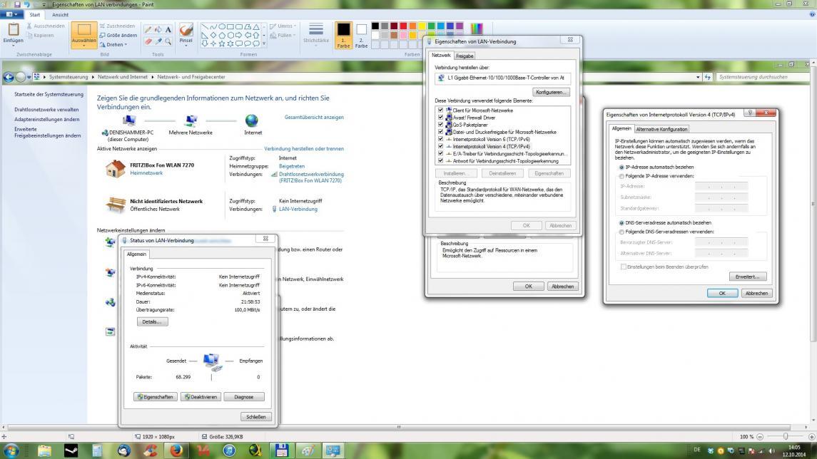 Nicht identifiziertes netzwerk windows 7