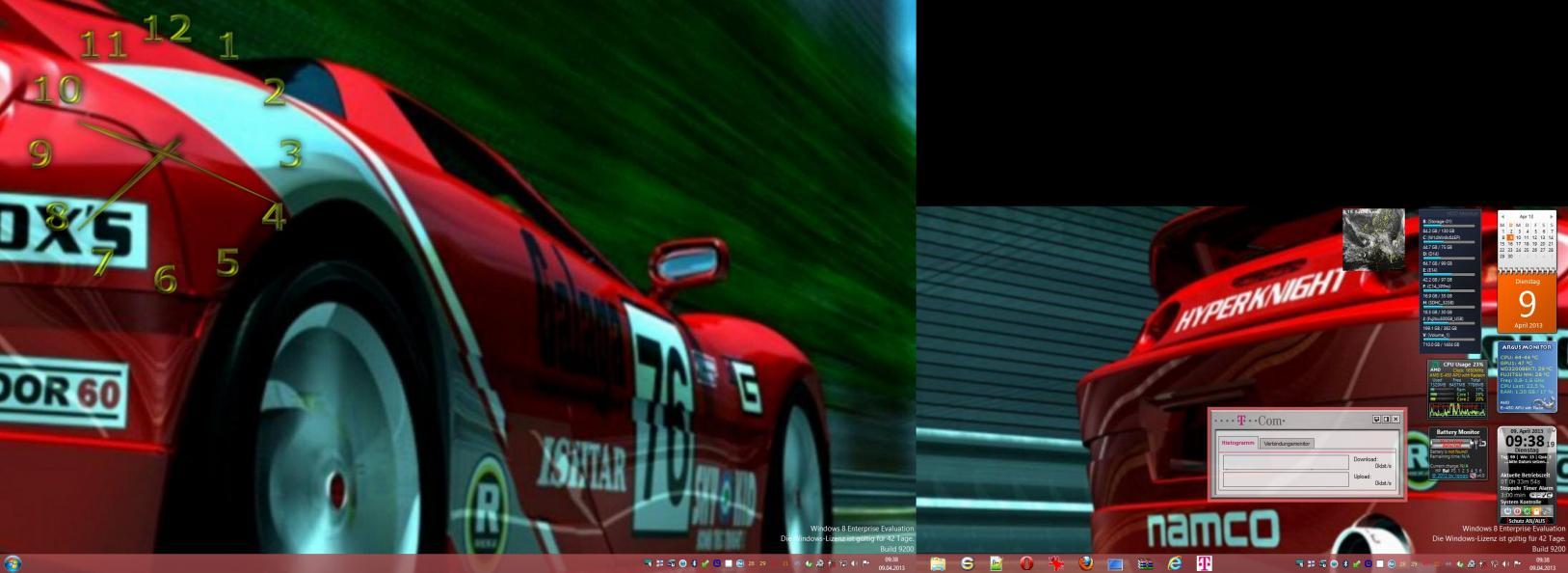 Win7 hintergrund 2 bildschirme