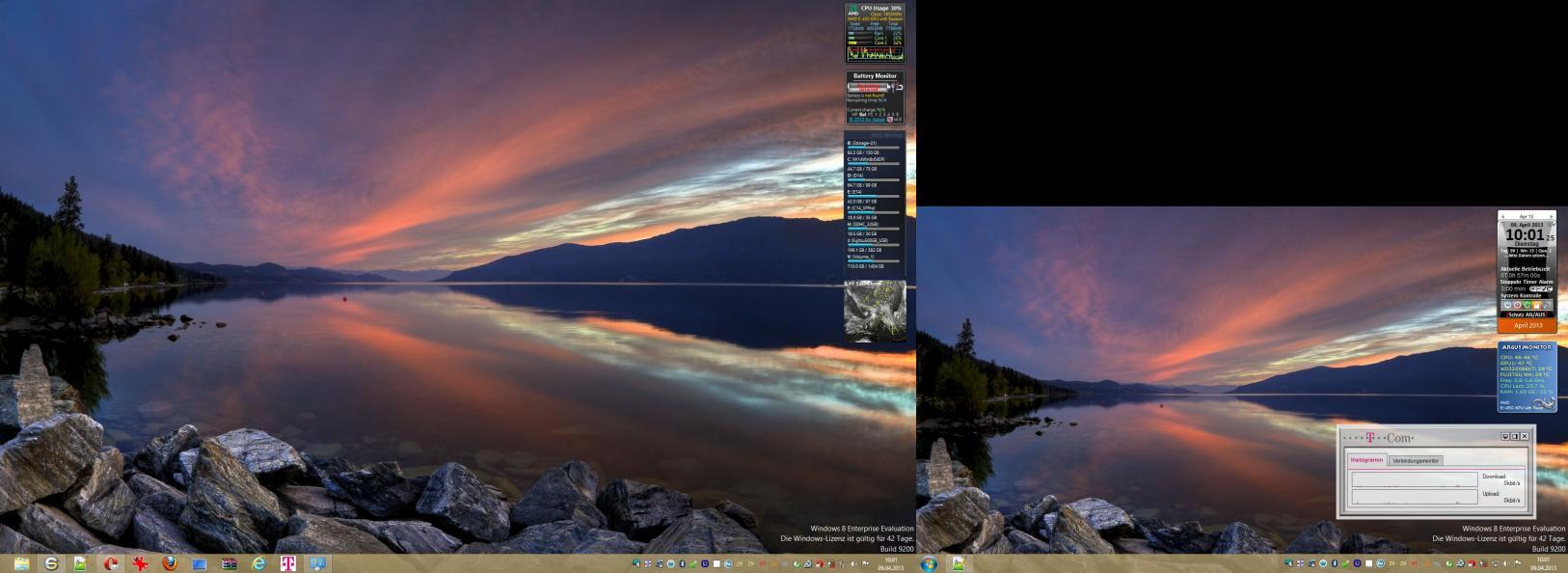 7 hintergründe bildschirme windows 2 verschiedene Mehrere Bildschirme